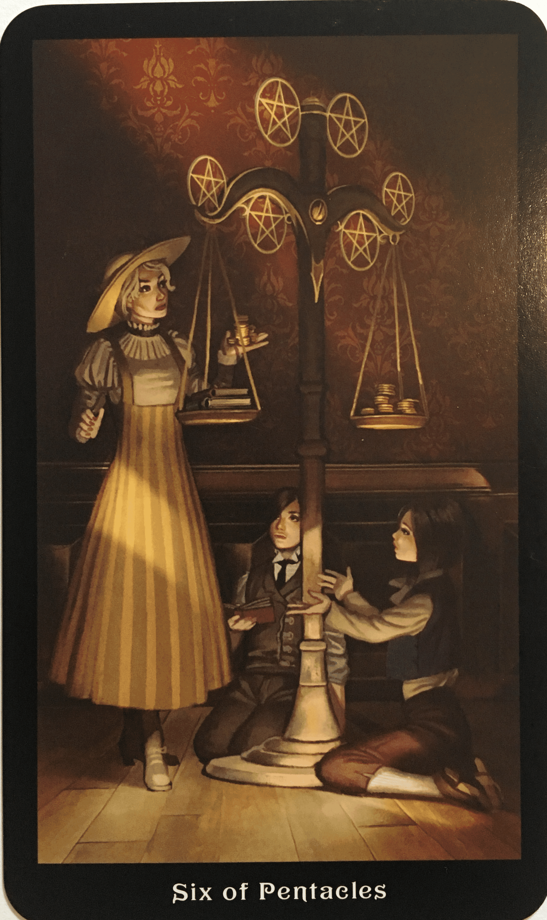 Tarotscope 04 March 2019 Intuitive Rene The six of pentacles shows a wealthy man dressed in a red robe, handing out coins to two beggars who kneel at his feet. tarotscope 04 march 2019 intuitive rene
